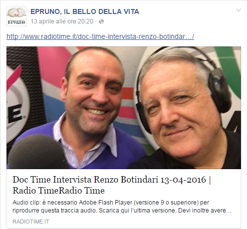 "Facebook - ""Doc Time"" su Radio Time"